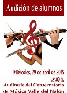 CARTEL AUDICION CLA, FLA, Y VIO 29-04-2015