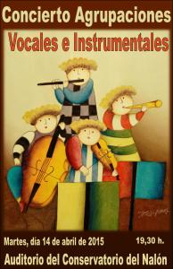 concierto agrupaciones cartel