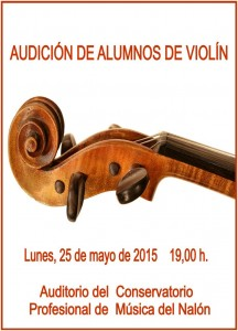 cartel audicion violin