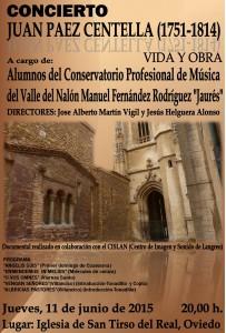 Cartel concierto San Tirso