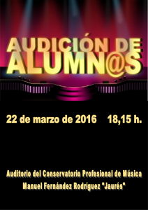 Audición 22 marzo de 2016 18,15 h.