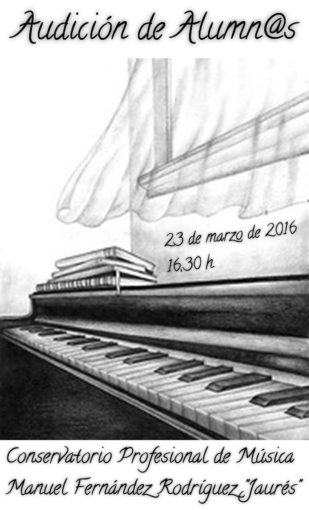 Audici n de alumn s conservatorio profesional de m sica for Conservatorio de musica