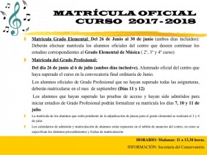 Matricula oficial 2017