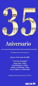 Cartel Conservetorio cuarteto Arpeggio copiar