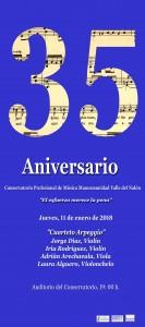 Cartel Conservetorio cuarteto Arpeggio copiar