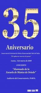 Cartel Conservetorio Alumnado Escuela de Oviedo copiar