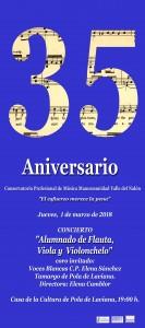 Cartel Conservetorio Alumnado en Pola de Laviana copiar