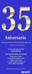 Cartel Conservetorio quinteto dacapo copiar
