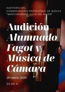 Audición Alumnado Fagot y Músia de Cámara